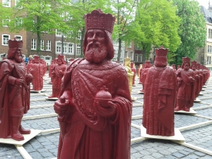 """Zum Karlsjahr 2014 wurde die Aktion """"Mein Karl"""" auf dem Katschhof umgesetzt."""