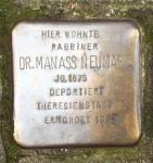 Stolperstein: Manass Neumark